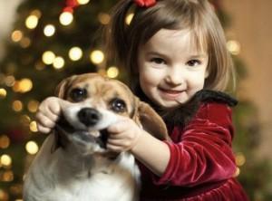 Christmas dog and kid 300x222 Open Christmas Eve