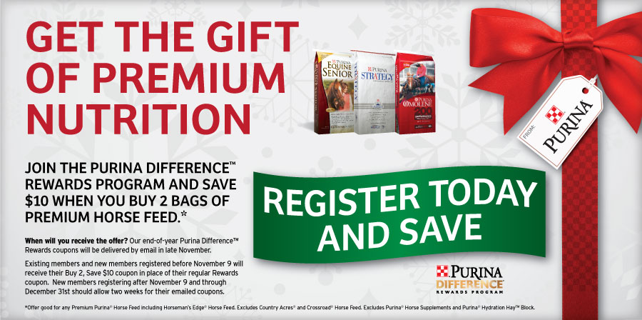 purina rewards 11 Save $10 On Premium Horse Feed
