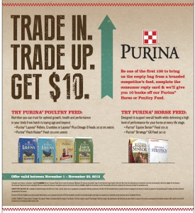 Purina Days Ad Slick 2013 FINAL 9.6 e1383178382271 275x300 Trade In. Trade Up. Get $10