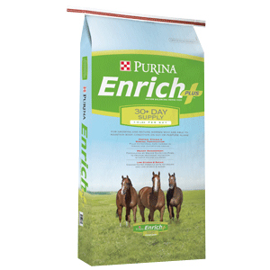 PurinaEnrichPlusHorse Green Grass   Approach with Caution