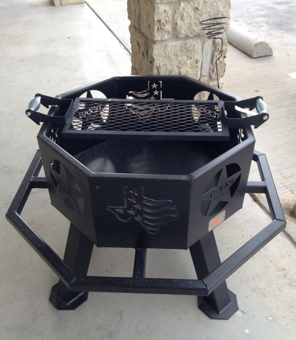 The 28″ fire pit is functional and decorative at the same time. It'll add  to any outdoor setting with the Texas themed cut outs. - New BBQs And Fire Pits From All Seasons :: McGregor General Store