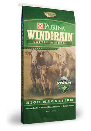 2012 WindandRain High Magnesium Storm package Purina Wind & Rain Hi Mag Cattle Mineral