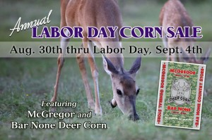 mcg post cornsale 2017 300x199 Annual Labor Day Deer Corn Sale 2017
