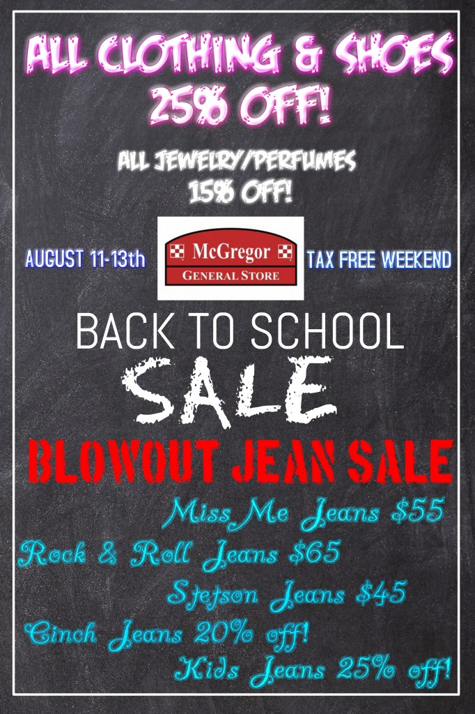 Copy of simple back to school sale retail promotion poster template 3 682x1024 Texas Tax Free Weekend 2017
