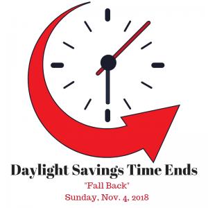 Daylight Savings Time Ends 300x300 Time Change : Nov. 4