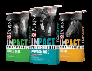 purina impact professional horse feed