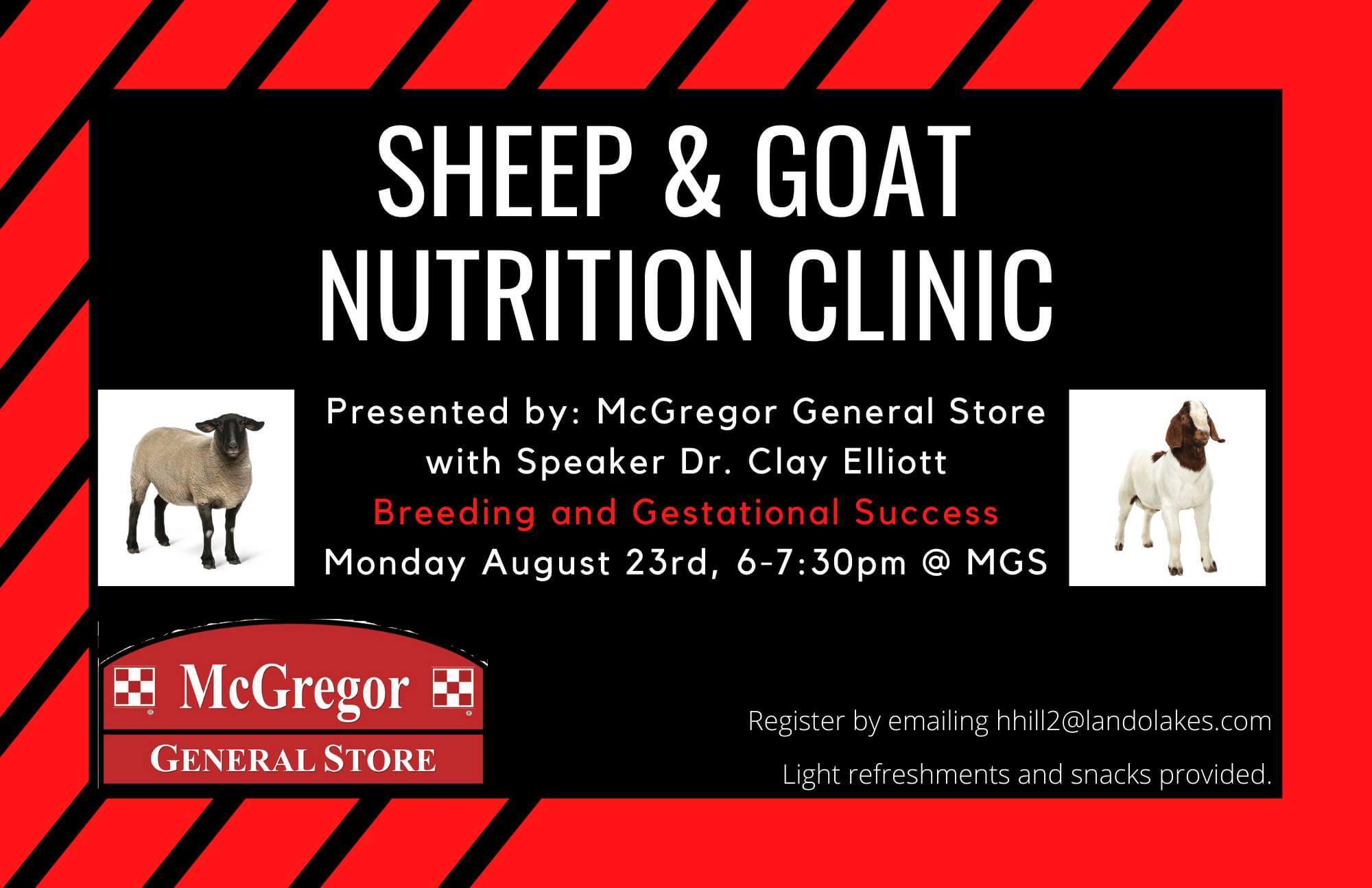 sheep clinic goat clinic purina